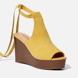 JustFab Stacked Wedge - Yellow